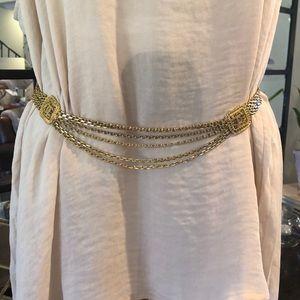 Vintage CHANEL Gold Belt